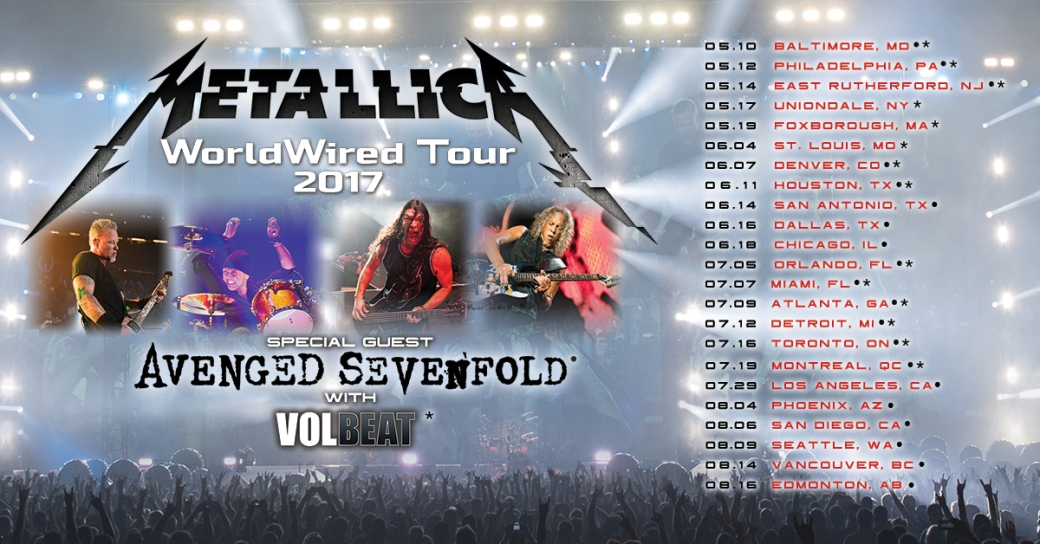 Metallica Worldwired poster