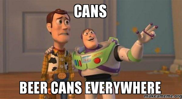 CANS-BEER-CANS