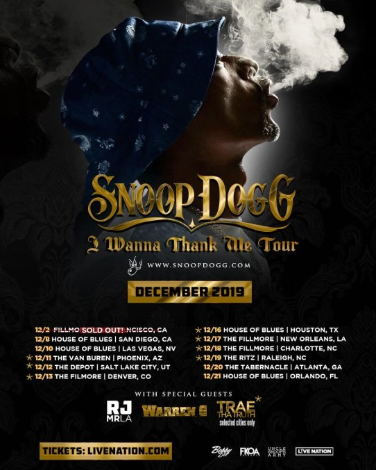 snoop tour poster